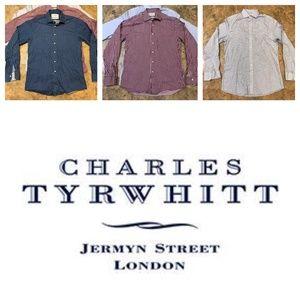 3 Charles Tyrwhitt Slim Fit Button Ups Men's Med.